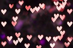 Herz bokeh mit Kopienraum lizenzfreies stockbild