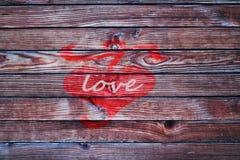 Herz am Bretterzaunliebe backgroun Valentinstag Lizenzfreie Stockfotos