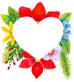 Herz in den Blumen lizenzfreie stockbilder