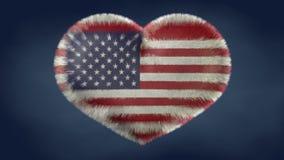 Herz der Flagge der Vereinigten Staaten von Amerika vektor abbildung