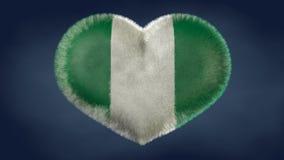 Herz der Flagge von Nigeria vektor abbildung