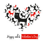 Herz der Katzen Stockbilder