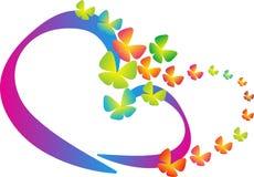 Herz der Liebe gemacht durch Schmetterling Stockfoto