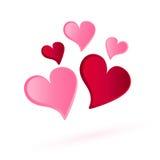 Herz der Volumenvektor, Liebesdesign Lizenzfreie Stockfotografie