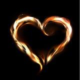 Herz des Feuervektors Lizenzfreie Stockbilder