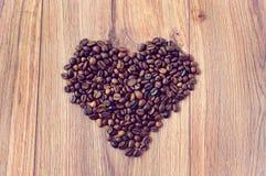 Herz des Kaffees Stockfotografie