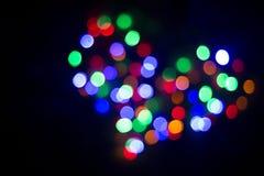 Herz des Lichtes lampen Nahtloses geschlungen Lizenzfreie Stockfotos