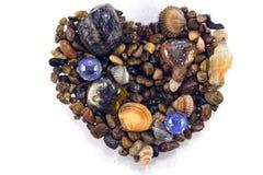 Herz des Meeres, Isolat Stockfotos