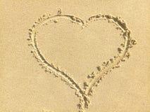 Herz des Sandes Lizenzfreies Stockbild