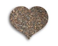 Herz des schwarzen Tees Lizenzfreies Stockbild