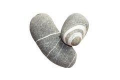 Herz des Steins lokalisiert Lizenzfreies Stockbild