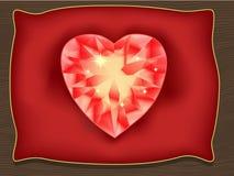 Herz des Valentinsgrußes lizenzfreie abbildung