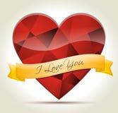 Herz-Diamant-ICh-Liebe-Sie Lizenzfreies Stockfoto