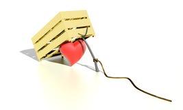 Herz in einer Falle lizenzfreie abbildung