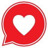 Herz in einer Spracheblase, Vektorliebesikone Lizenzfreies Stockbild