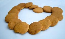 Herz-förmig gemacht vom Lebkuchen Lizenzfreie Stockfotografie