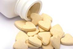 Herz-förmige Tablets Stockbild