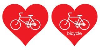 Herz, Fahrrad Ich liebe mein Fahrrad Ich liebe das Fahrrad lizenzfreies stockbild