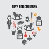 Herz-Form-Kinder spielt Souvenirladen-Karte, Vektorillustration Lizenzfreie Stockfotografie