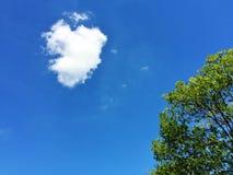 Herz-Form-Wolke lizenzfreie stockfotos
