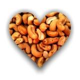 Herz gefüllt mit Acajoubäumen Stockfoto