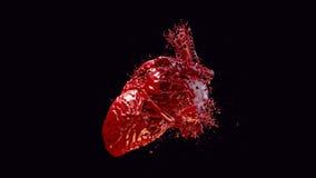 Herz gefülltes Blut lizenzfreie stockbilder