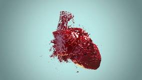 Herz gefülltes Blut lizenzfreies stockbild