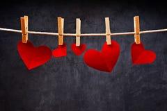 Herz-geformte Valentinstagkarten Lizenzfreie Stockfotografie