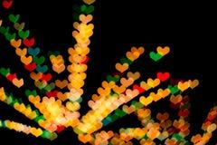 Herz geformtes bokeh Stockfoto