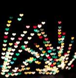 Herz geformtes bokeh Stockfotografie