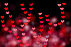 Herz geformtes bokeh Lizenzfreies Stockbild