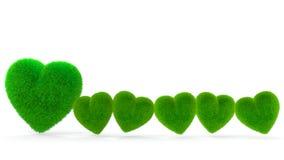 Herz-geformtes Gras Lizenzfreies Stockbild