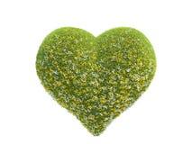 Herz gemacht vom Gras Stockbild