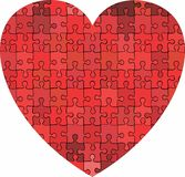 Herz gemacht vom Puzzlespielhintergrund stock abbildung