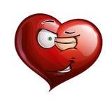 Herz-Gesichter - blinzelnd stock abbildung