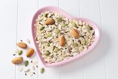 Herz-gesunder Lebensmittel-Hintergrund Stockbilder