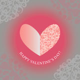 Herz-glücklicher Valentinsgrußtag Lizenzfreie Stockbilder