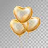Herz-Goldballon auf Hintergrund stock abbildung