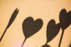 Herz, Herz, Schatten des Herzens Stockbilder