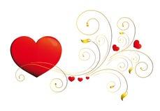Herz, Herzen, Rot, krausens, Hintergrund Lizenzfreie Stockfotografie