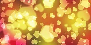 Herz-Hintergrund, Herz Bokeh-Hintergrund, lizenzfreies stockbild
