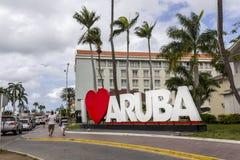 Herz I Aruba-Zeichen Lizenzfreies Stockfoto