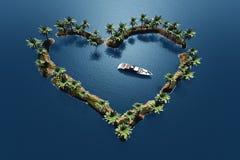 Herz im Meer stock abbildung