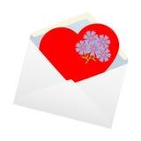 Herz im Umschlag. Stockbilder