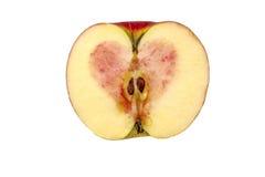 Herz innerhalb des Apfels Lizenzfreies Stockbild