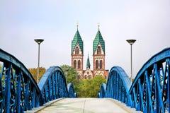 Herz-Jesu Cathedral em Freiburg, Alemanha fotos de stock royalty free