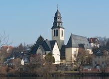 Herz Jesu Church, Kelsterbach am Main, Hesse, Germany.  royalty free stock photo