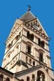 Herz Jesu Kirche in Innsbruck. Bell tower of Herz Jesu Kirche (Sacred Heart of Jesus Church) in Innsbruck, Austria royalty free stock photo