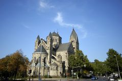 Herz Jesu Kirche a Koblenz, Germania Immagini Stock Libere da Diritti