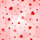 Herz-Konfettis valentines stock abbildung